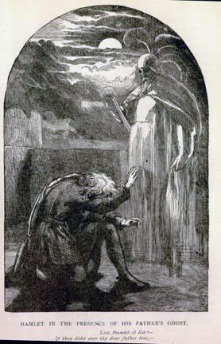 Hamlet in the presence of his father's ghost - John Gilbert