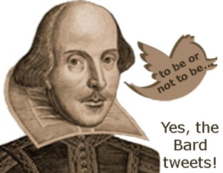 Twitter offers a lot of help for Shakespeare, including @IAM_SHAKESPEARE